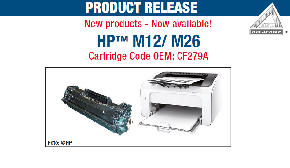 HP™ M12/ M26 Cartridge Code OEM: CF279A